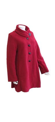 Janska Red Fleece Button Jacket
