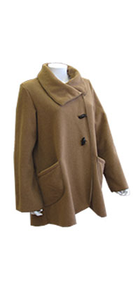 Janska Camel Fleece Toggle Jacket