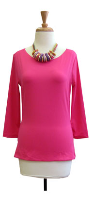 Judy P Sabrina 3/4 Sleeve Top