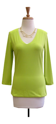 Judy P 3/4 Sleeve Vneck Top