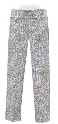 Lisette L White with Grey Leopard Ankle Pant