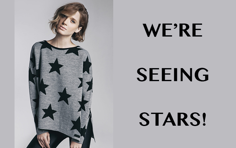 black & grey star sweater