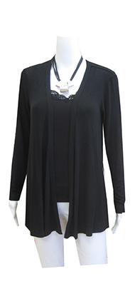 Bobbi black cardigan