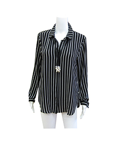 black stripped blouse