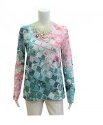 Whismy Rose Long Sleeve Crew Crackle Teal