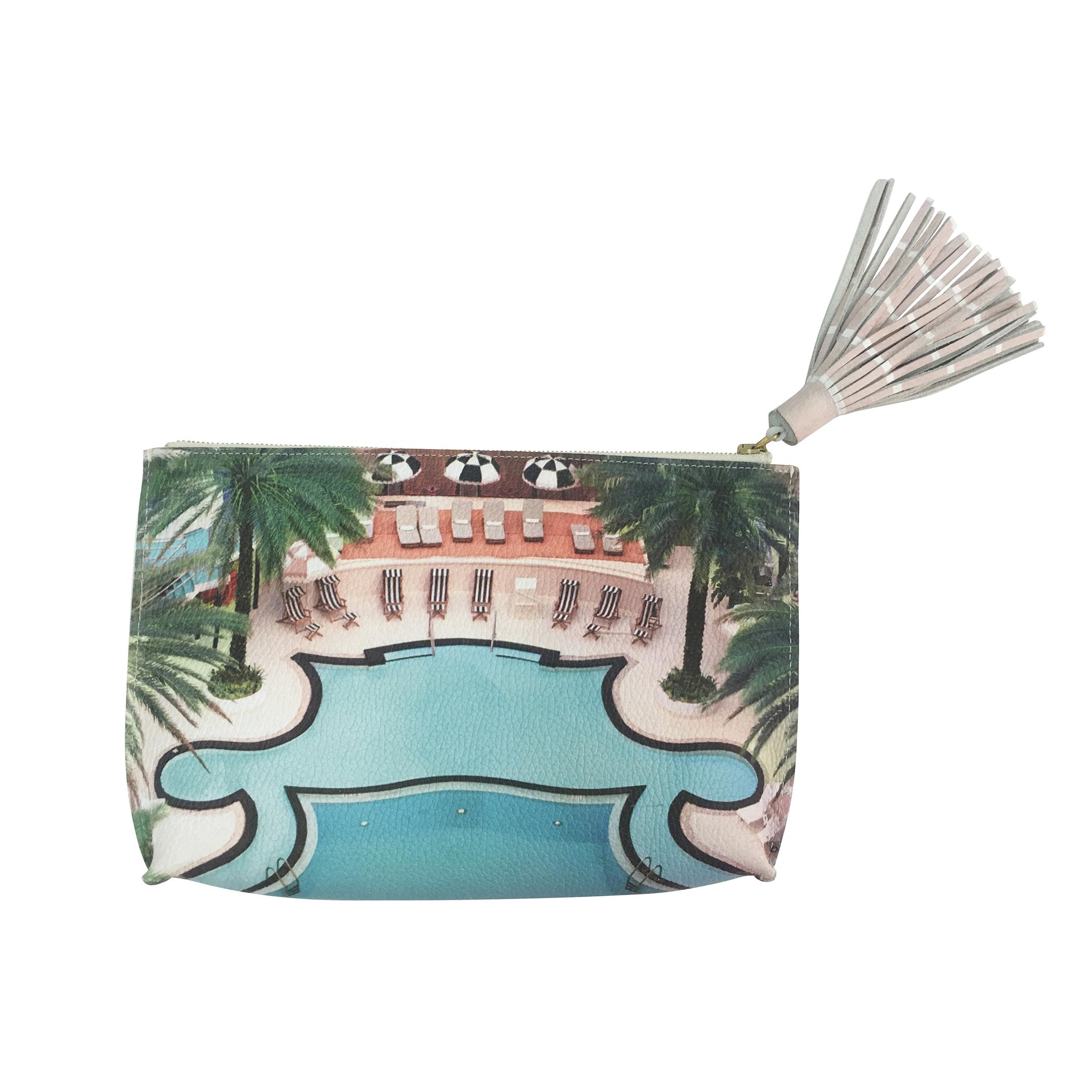 Paige Gamble Miami Pool Scene Soft Clutch