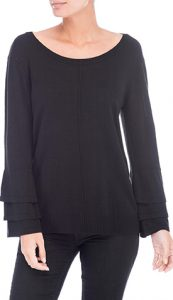 Bobeau Cora Ruffle Sleeve Sweater