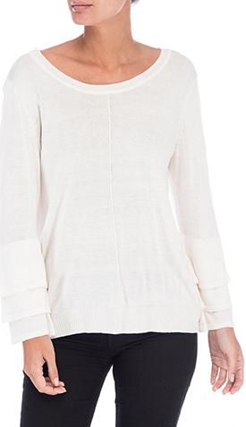 Bobeau Cora Ruffle Sleeve Sweater