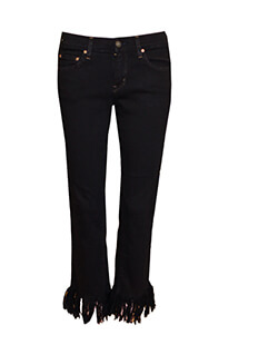 Black Super Fray Jeans