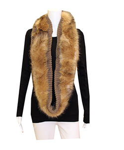 Tan Faux Fur Scarf