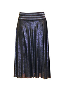 Navy Metallic Skirt