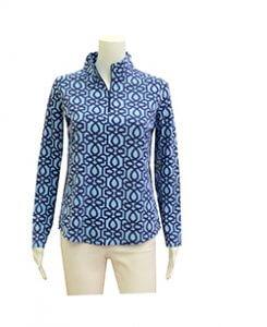 Blue Quarter Zip Pullover