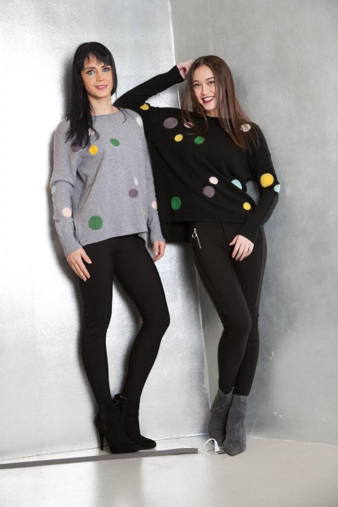 Multi Color Polka Dot Sweater