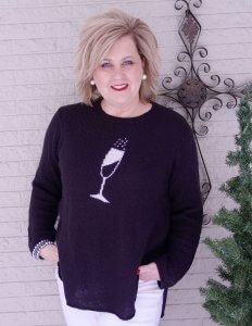50 Is Not Old in Champagne Sweater