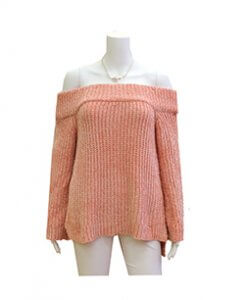 Pink Off the Soulder Sweater