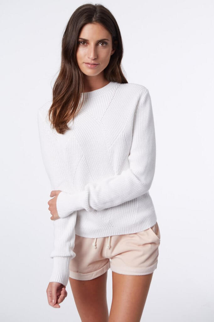525 sweater in white