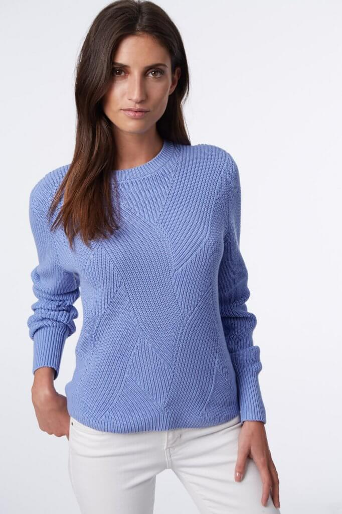 525 sweater in periwinkle