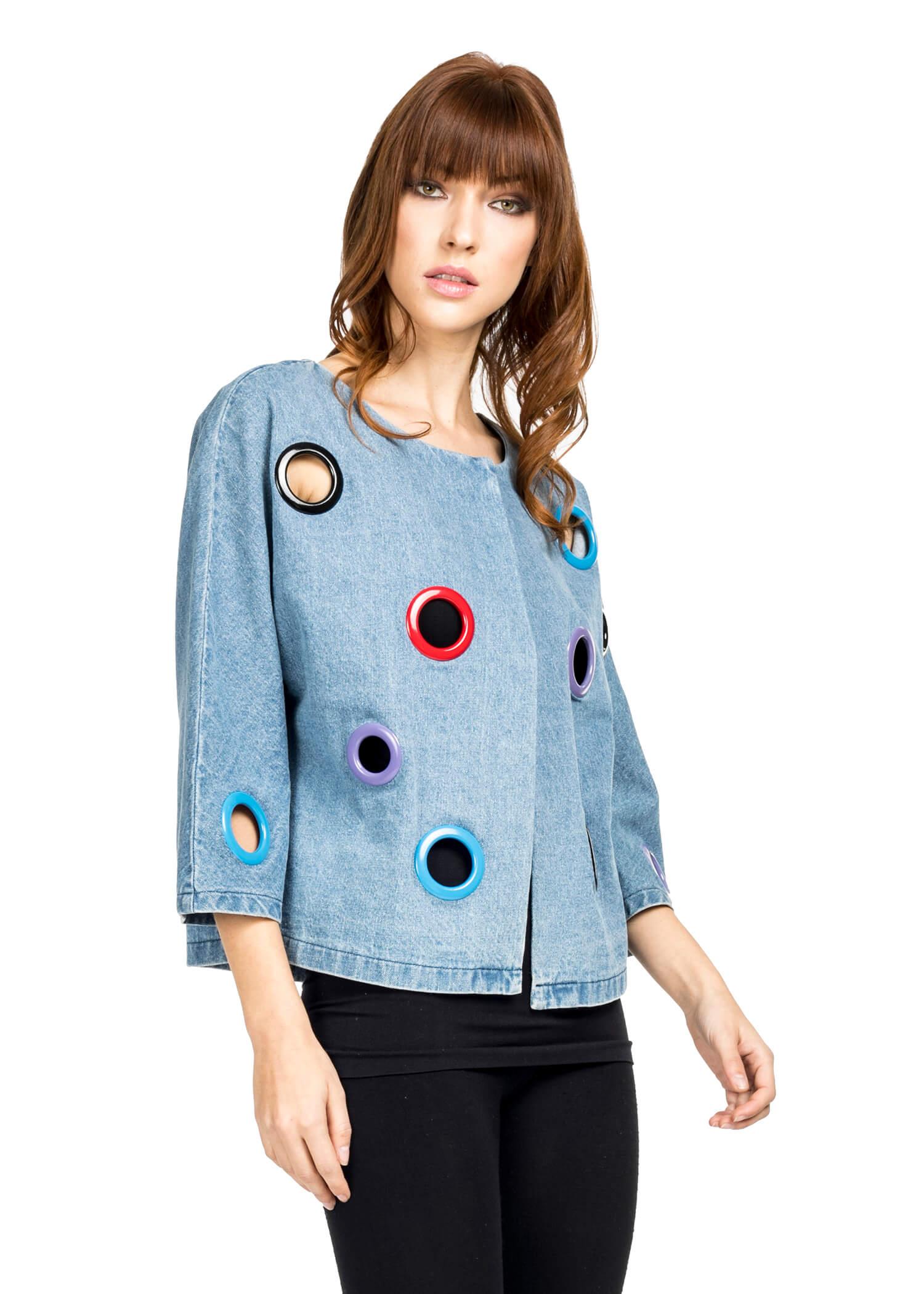 circle jean jacket