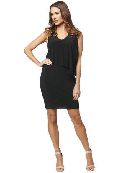 Black Tank Dress with Overlay