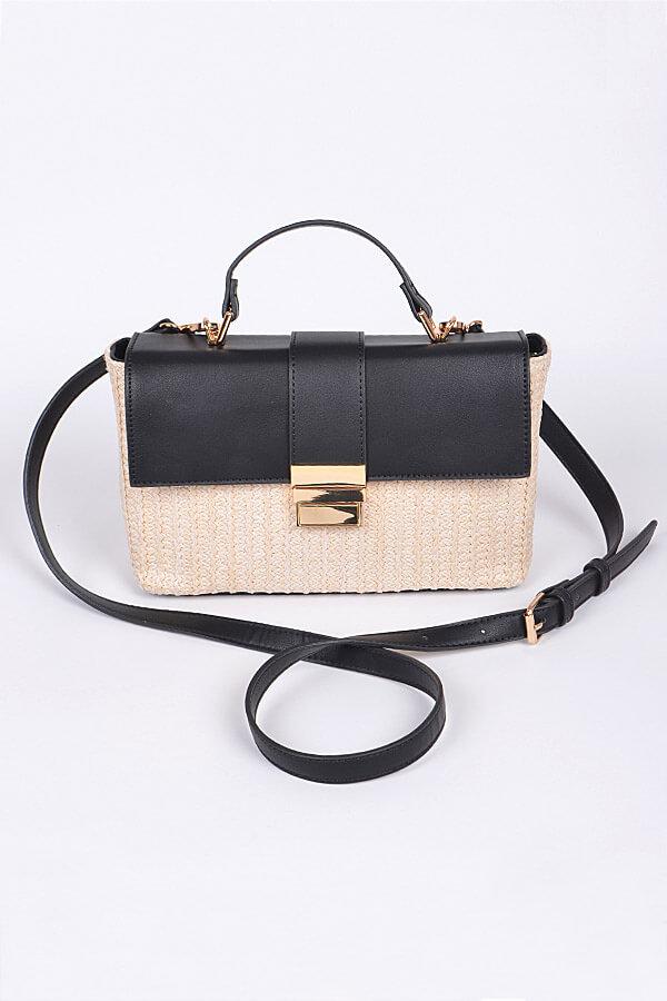 Black and Tan Picnic Bag