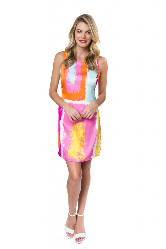 colorful shift dress