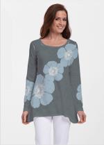 e0c151d3d9 Whimsy Rose Abigail Tunic Poppy Steele Blue Grey