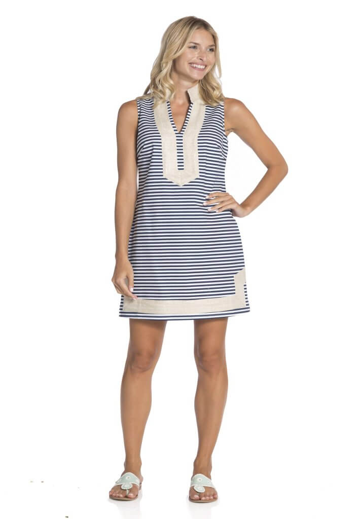 Sail To Sable Slub Sleeveless Tunic Dress