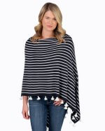 Caroline Grace Striped Poncho