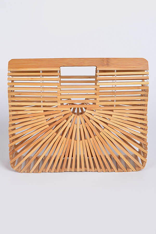 natural bamboo clutch