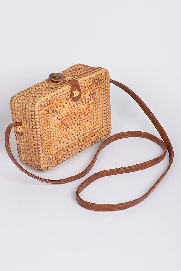 square wicker bag