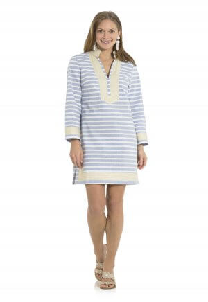 Sail to Sable Cotton Long Sleeve Striped Tunic