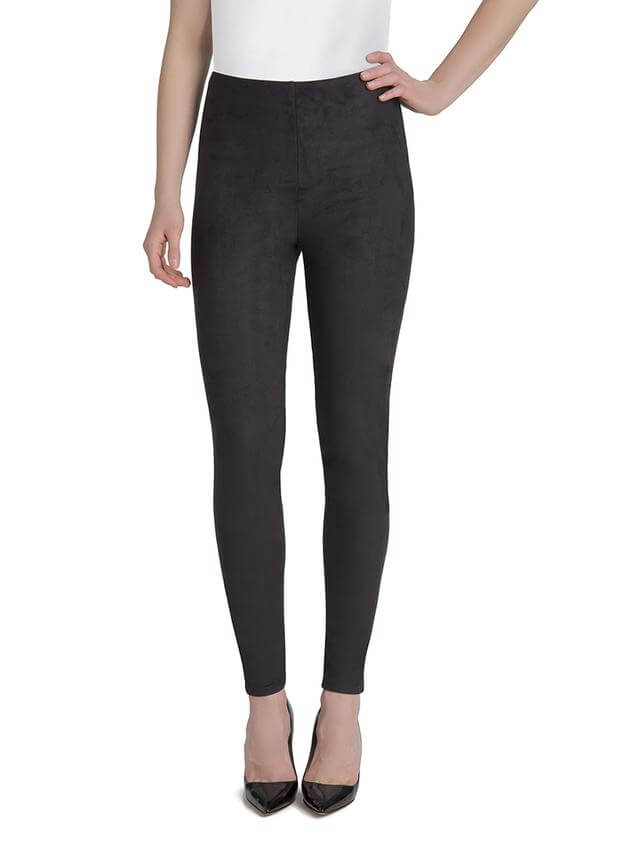 Lysse High Waisted Suede Leggings Black