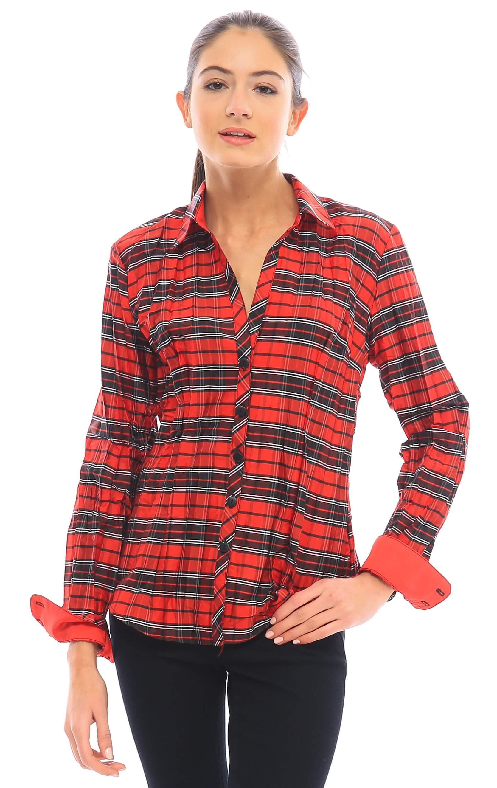 73PLAID RED BLACK