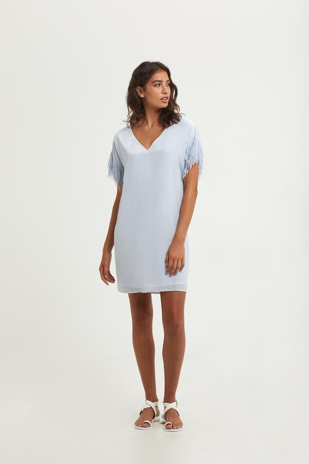 Edited - Final Select - Andi Fringe Dress - Powder Blue - 201-281_Front