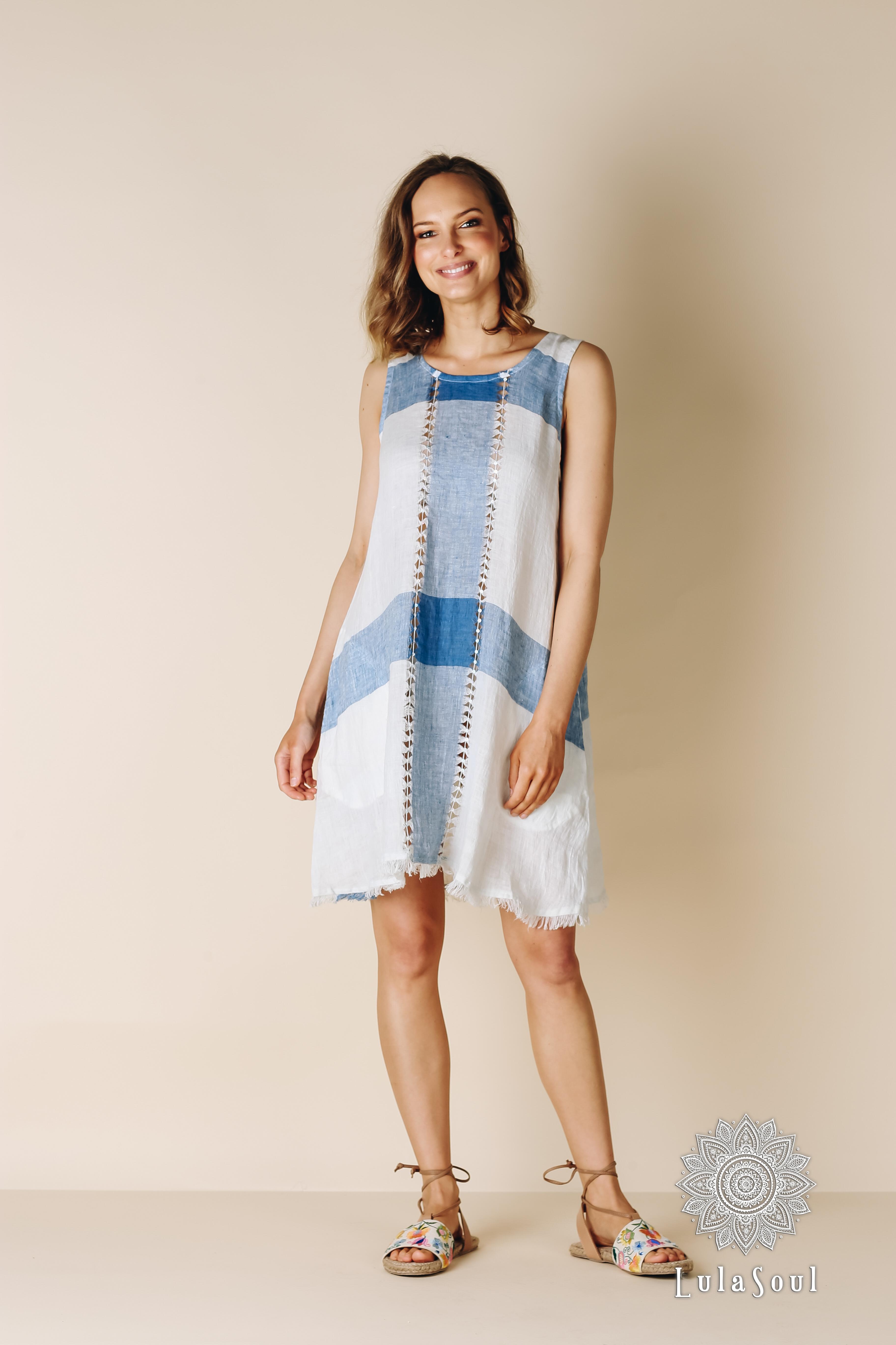RAW Tranquil Dress Indigo (1)