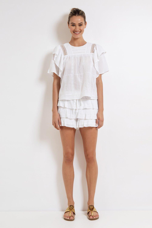 lola shorts white