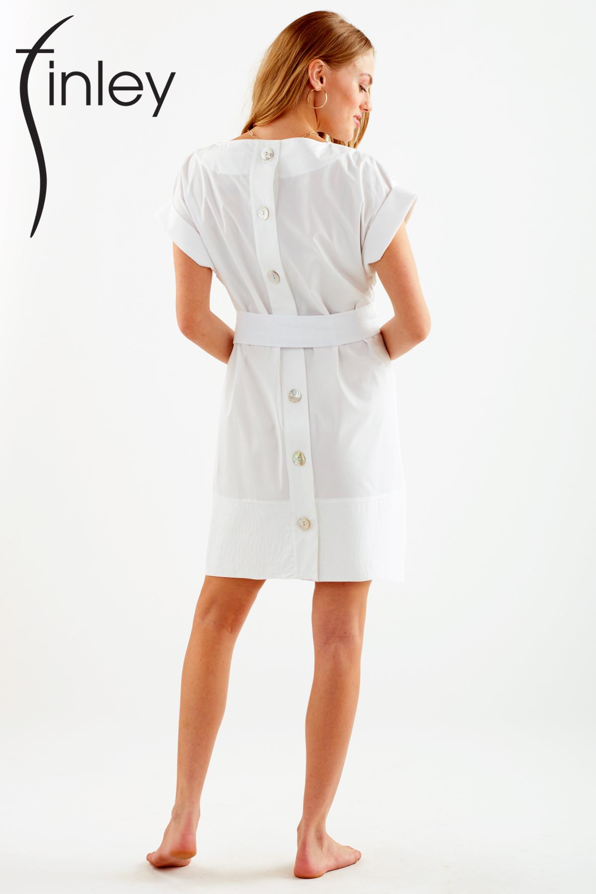 Finley Shirts Pilar Dress belted logo back