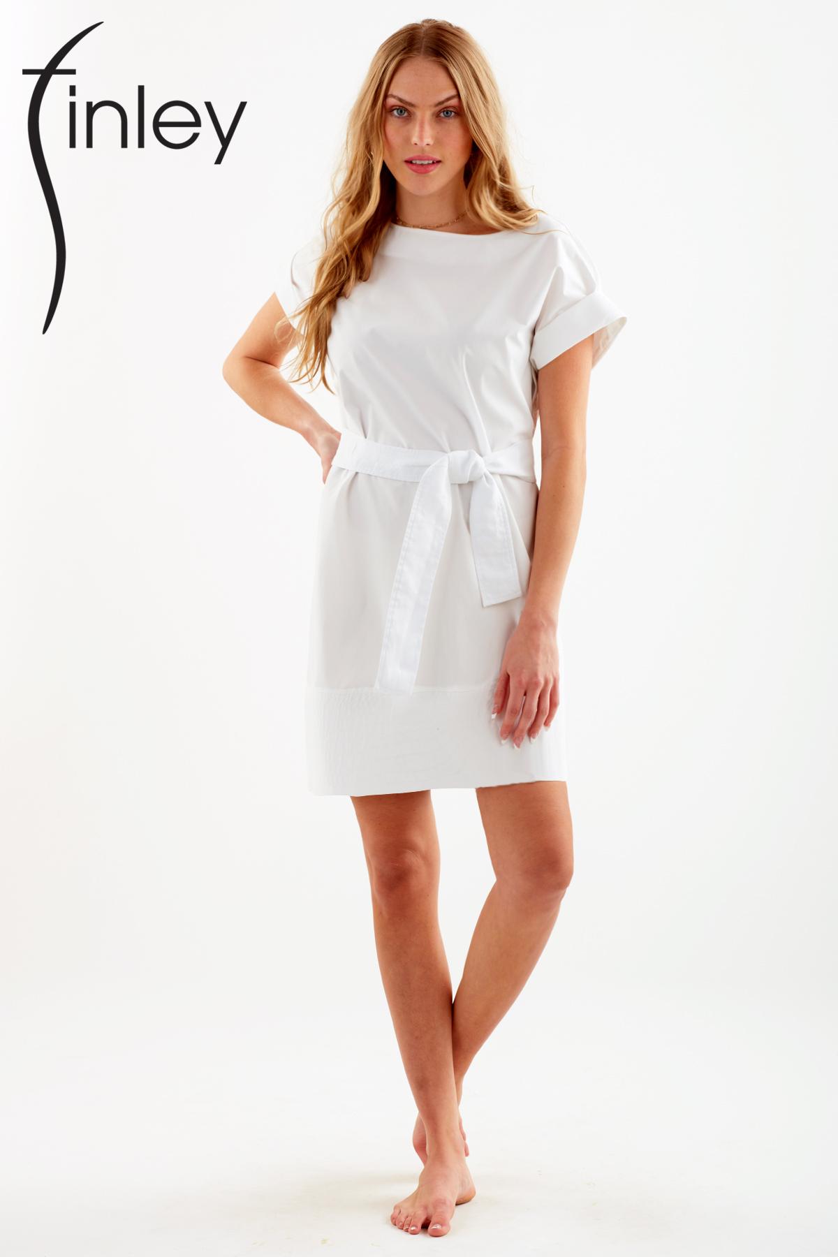 Finley Shirts Pilar Dress belted logo